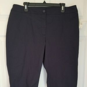 Talbots Cropped Pants NWT 16W Navy